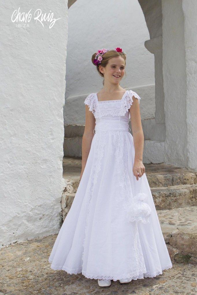 vestidos de primera comunion tejidos