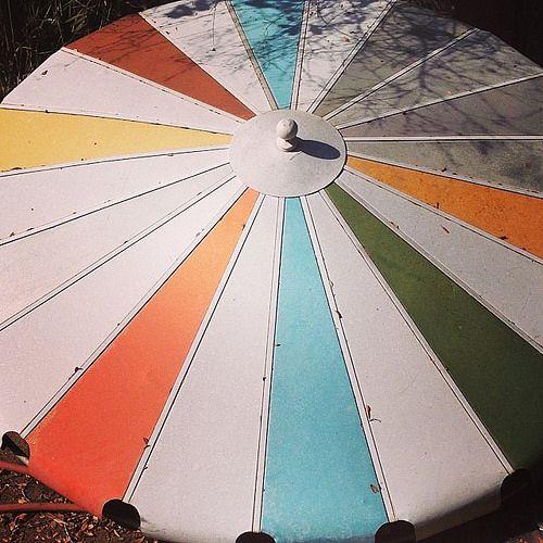 Fresh Find 1950s Aluminum Patio Shade Umbrella In 2019