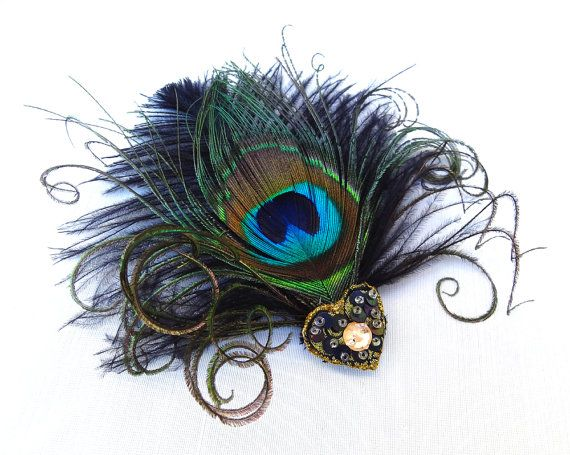 Weddings Accessories Peacock Feather Fascinator By