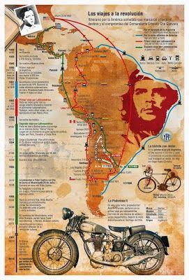 Los Viajes Del Che Guevara A La Revolución Diarios De Motocicleta Historia De Mexico Che Guevara