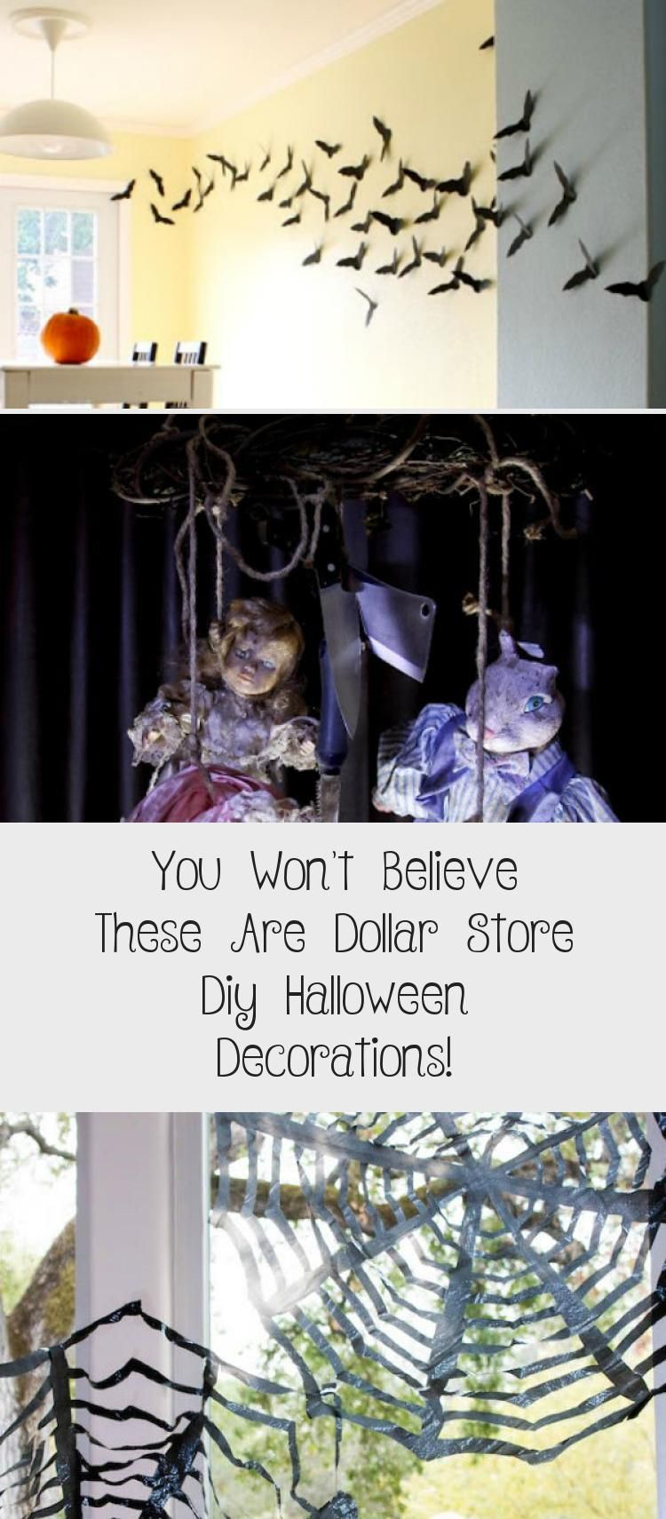 Seriously Cheap and Awesome Halloween Decorations you can make using items from the Dolalr Store. You Won't Believe these are Dollar Shop Halloween Decorations!   #halloween #halloweendecorations #diyhalloweendecorations #halloweendecorationsHouse #HomeMadehalloweendecorations #halloweendecorationsYard #halloweendecorationsSkeleton #halloweendecorationsCitrouille