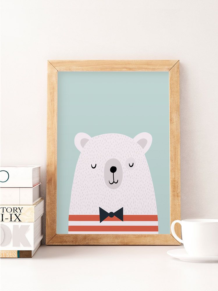 942fe52c0ea6e White bear, Bear nursery print, Nursery decor, Nursery print, Bear ...