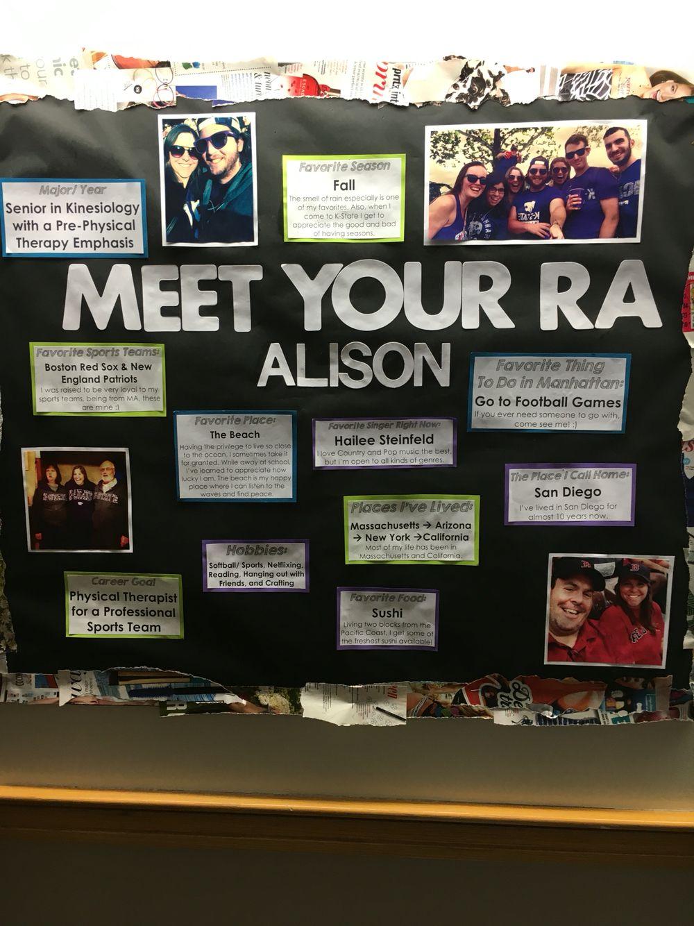 Meet Your RA Bulletin Board #rabulletinboards