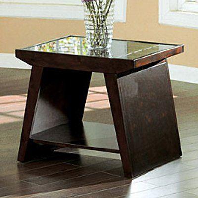 Furniture of America CM4313E Tavius End Table, Walnut