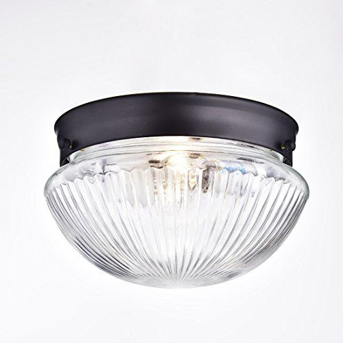 ceiling light with clear glass vintage flush-mount interior clear ...