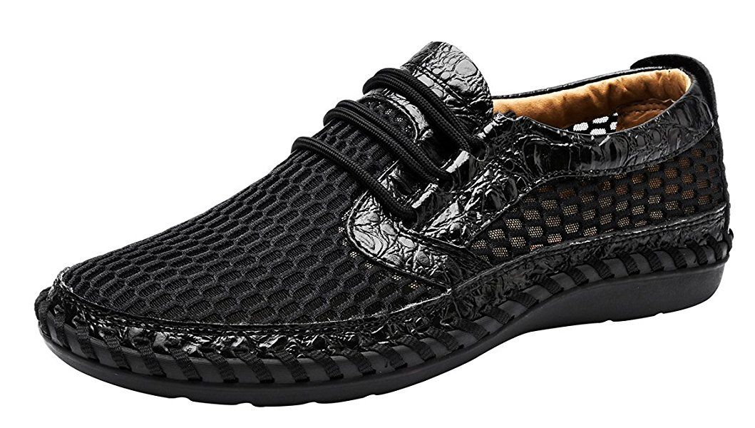 Louechy Men's Notus Mesh Breathable Walking Loafers Casual