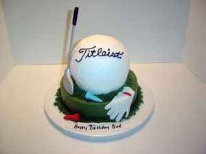 3D Golf Ball Cake MB-104 Confection Perfection Cakes - Online Ordering