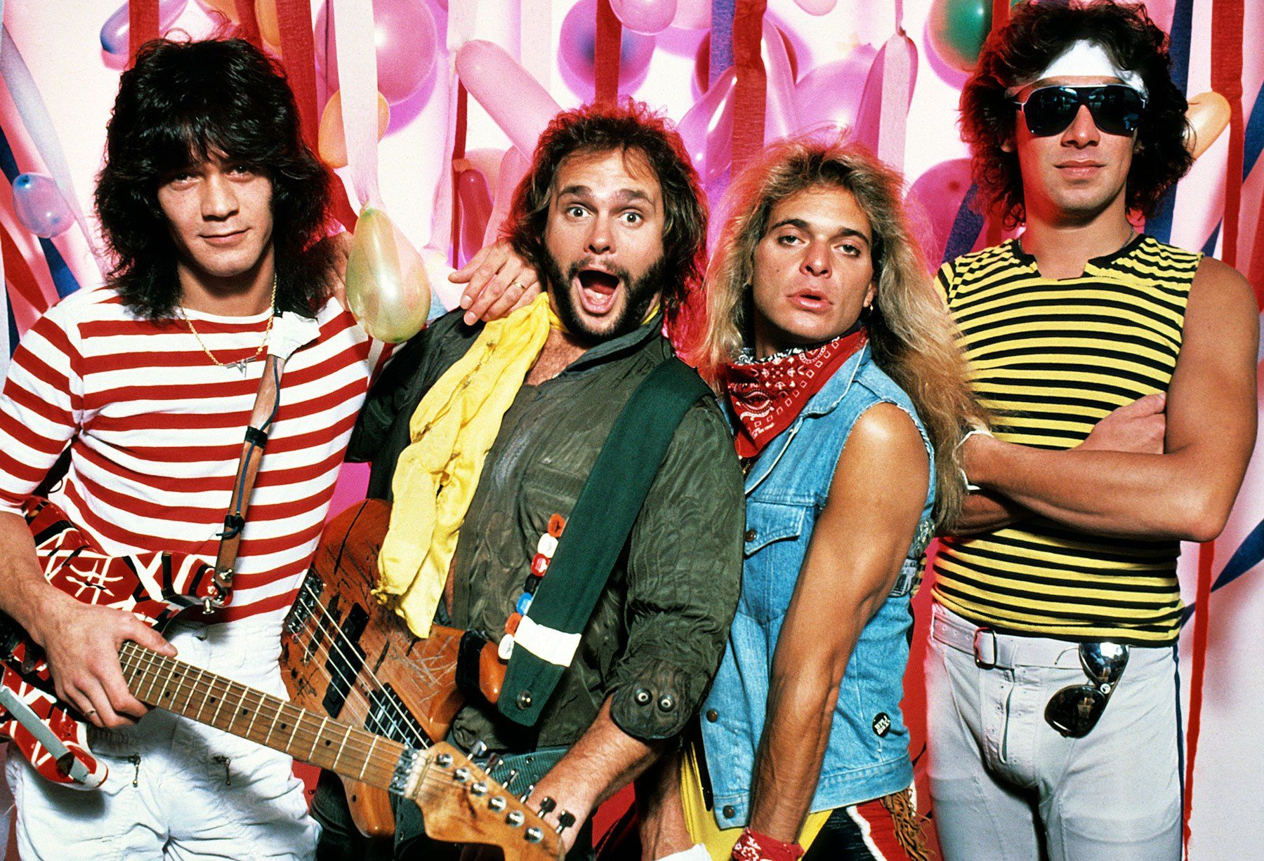 Eddie Van Halen David Lee Roth And Michael Anthony 1983 Van Halen Eddie Van Halen David Lee Roth