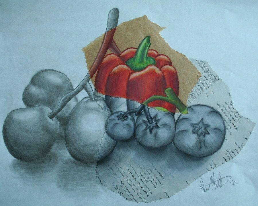 Mixed Media Still Life By Ianskills On Deviantart Natural Form Art Still Life Drawing Drawing Lessons