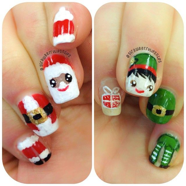 Christmas Nails Elf: Instagram Media By Strawberrylipsntips