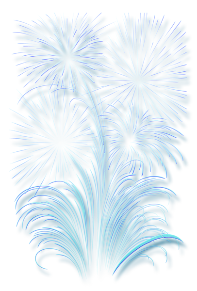 Transparent Fireworks Effect Happy New Year Wallpaper