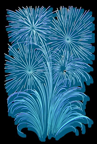 Transparent Fireworks Effect Happy birthday clip art