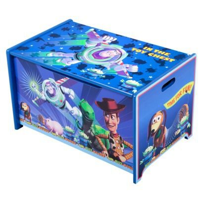 Delta Children S Products Toy Story Wooden Toy Box Opens In A New Window Wooden Toy Boxes Toy Boxes Toy Story Bedroom
