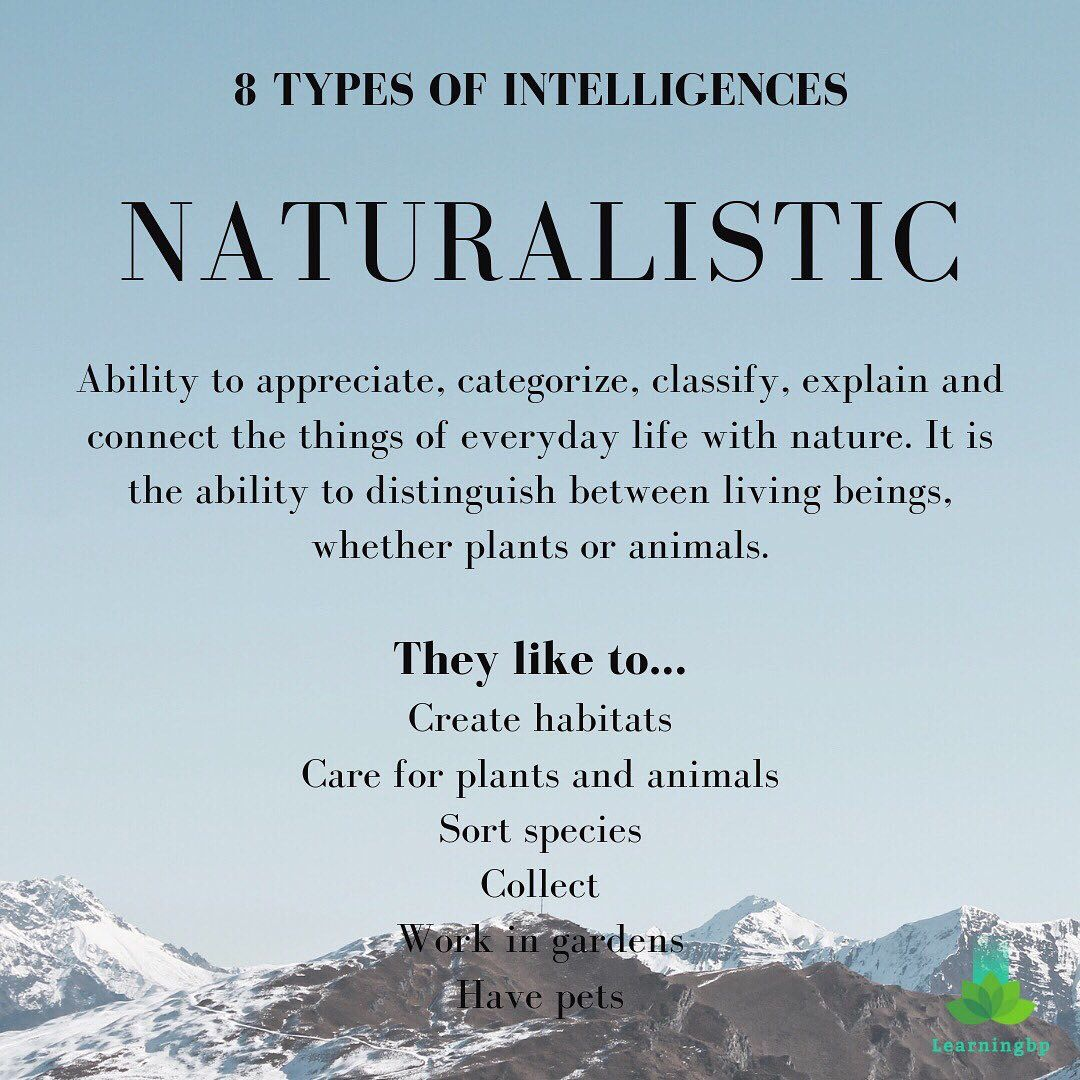 One Of Gardner S Multiple Intelligences It Is The Ability