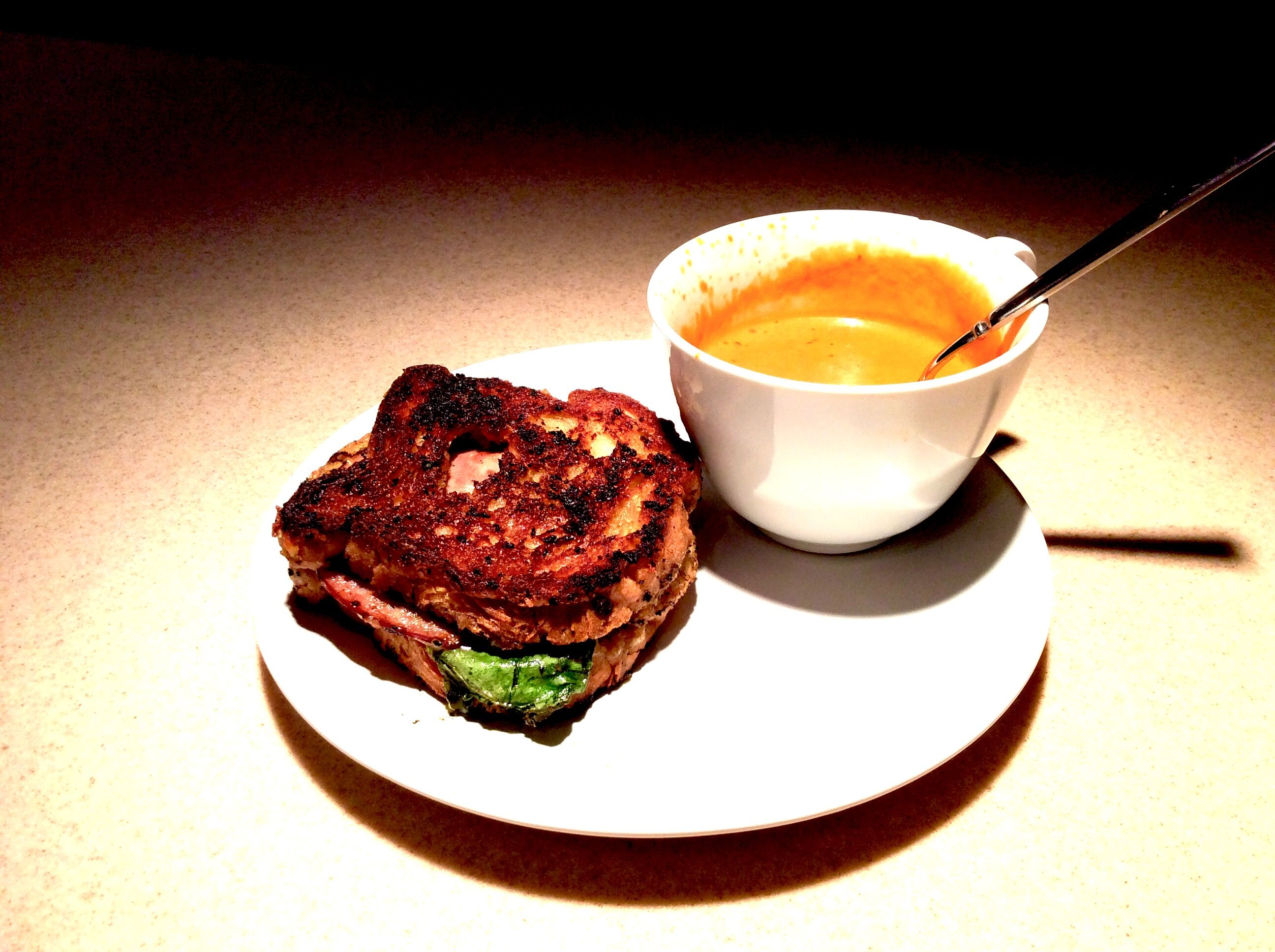 C.L.H.C. ( chicken, lettuce, ham, and cheese. W/ tomato bisque