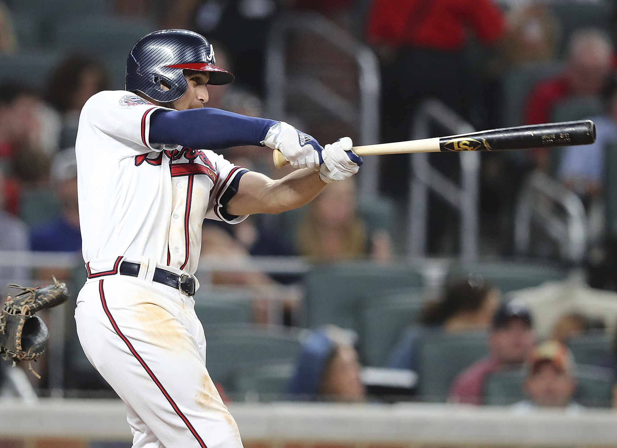 Atlanta Braves Ender Inciarte Hits The First Home Run For In SunTrust Park A Lead Over San Diego Padres During Sixth Inning