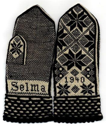 rad vintage mittens. | Guantes, Textiles y Tejido