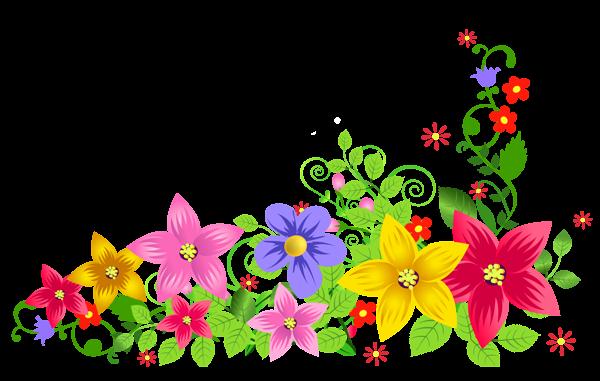 transparent floral decoration png picture
