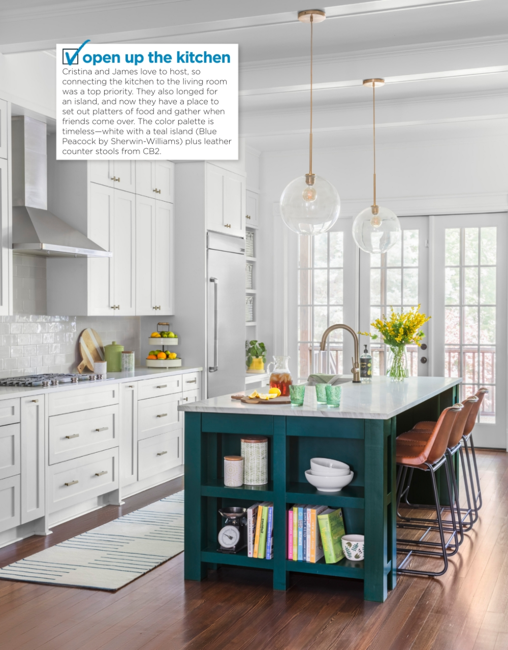 Pin By Michelle Ann Johnson On Kitchens Teal Kitchen Teal Kitchen Decor Green Kitchen Island