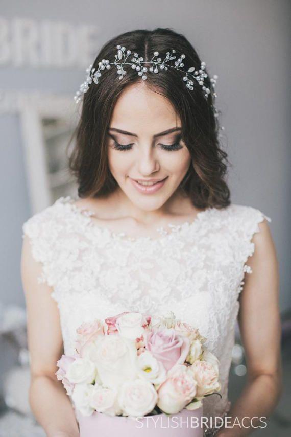 Hochzeit Haarteil Kristall Und Perle Haar Rebe Braut Haar Etsy Haarteile Hochzeit Haarschmuck Hochzeit Verlobungs Frisuren