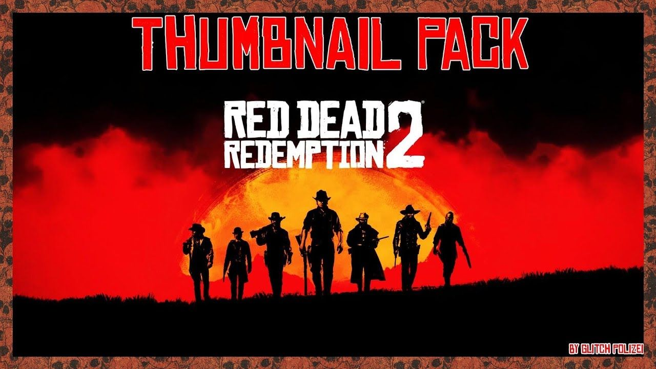 Red Dead Redemption 2 Thumbnail Pack Psd Free Download Rdr 2