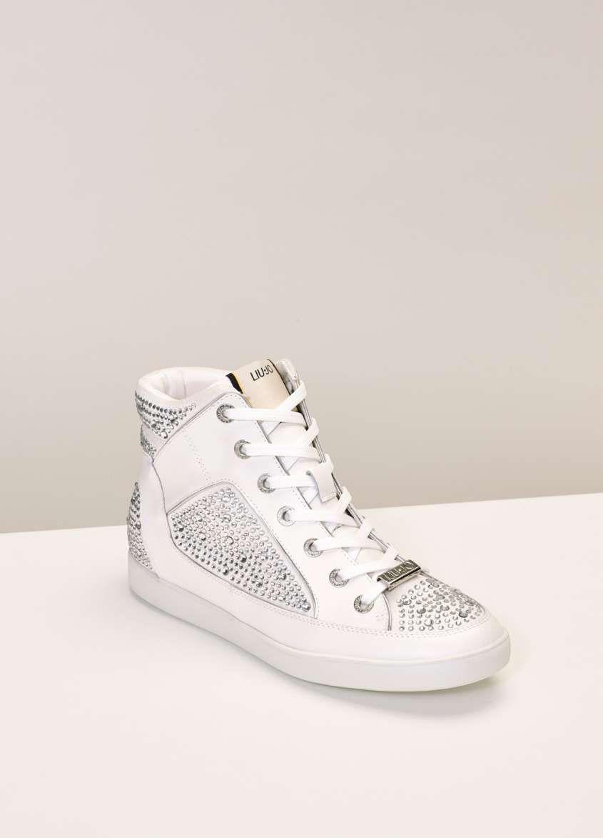 Sneakers bianche Autunno Inverno 2015-2016 - Sneakers con strass liu ... 7e9cdedf045