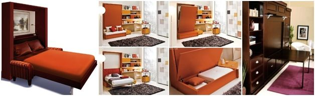 murphy bed combination. With this Murphy Bed Kit you can easily build your own Murphy Bed! #murphybed #wallbed #murphybedkit