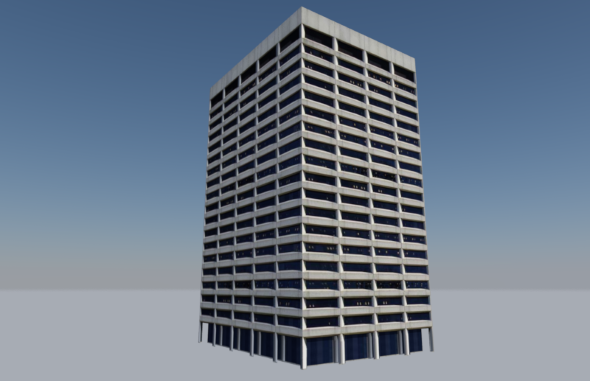 Low Poly Building Portland Federal Courthouse Building Low Poly Courthouse