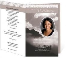 Variety Of Templates For Memorial Folders Etc  Personalized