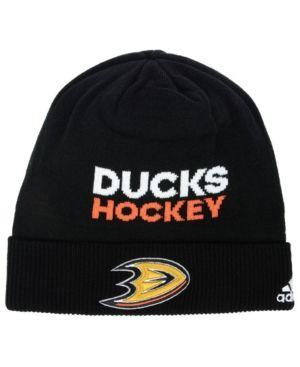 separation shoes b9323 c4bc5 adidas Anaheim Ducks Player Knit - Black Adjustable ...
