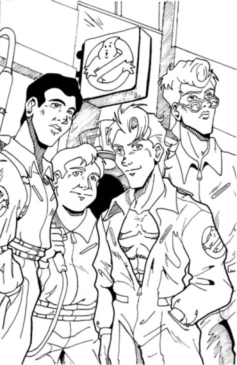 Cool Ghostbusters Members Coloring Page Online Printable