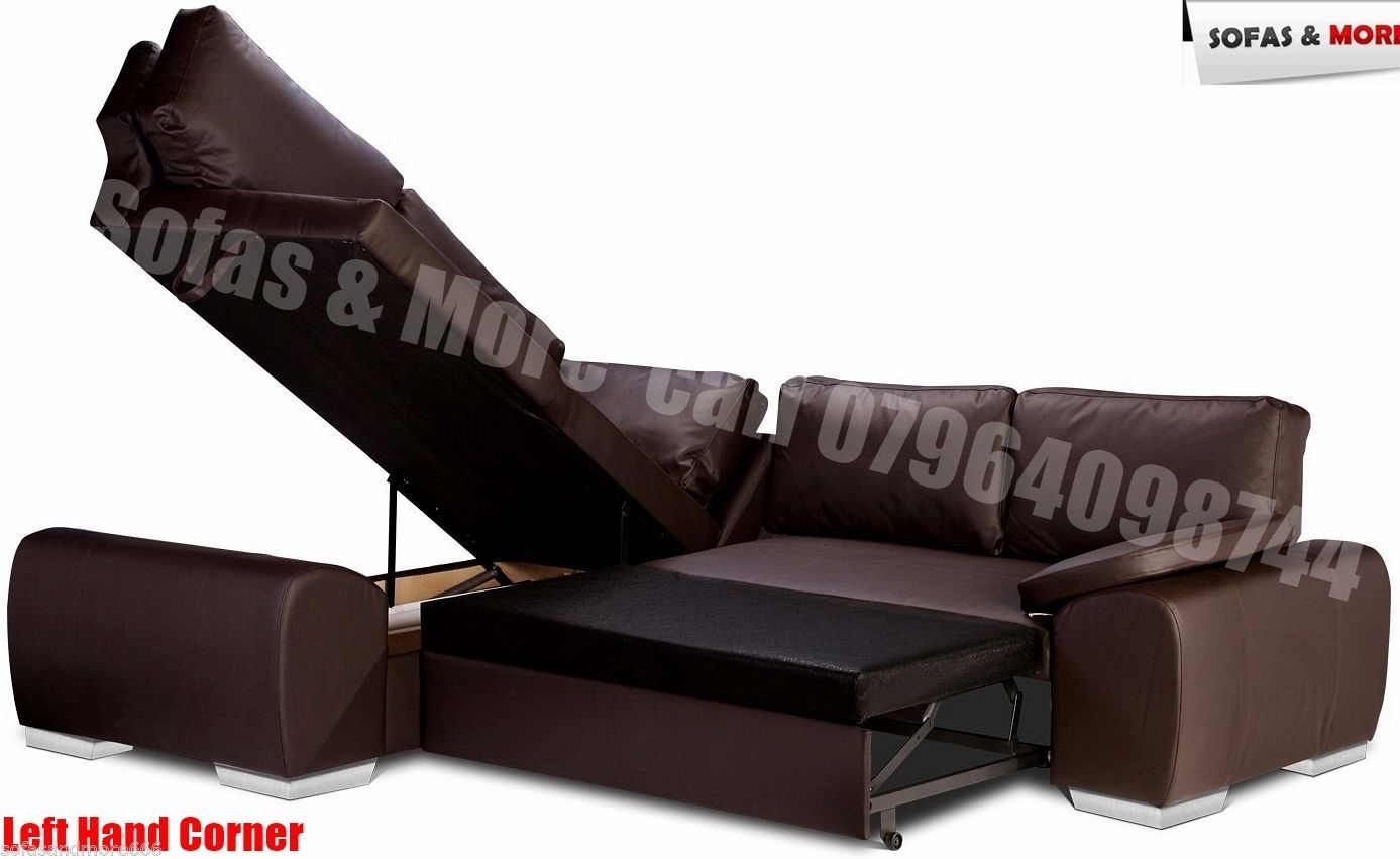 Corner Sofa Bed With Storage Enzo Black Brown Cream Faux Leather Brand New Http Www Ebay Sofa Bed With Storage Corner Sofa Bed With Storage Corner Sofa Bed