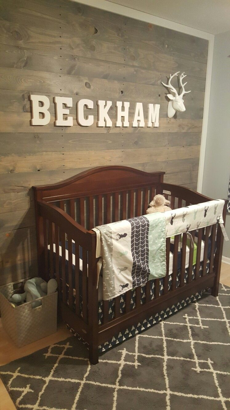 Crib Bedding Baby Boy Rooms: Baby Boy Nursery Modern Outdoor Theme With Pallet Wall