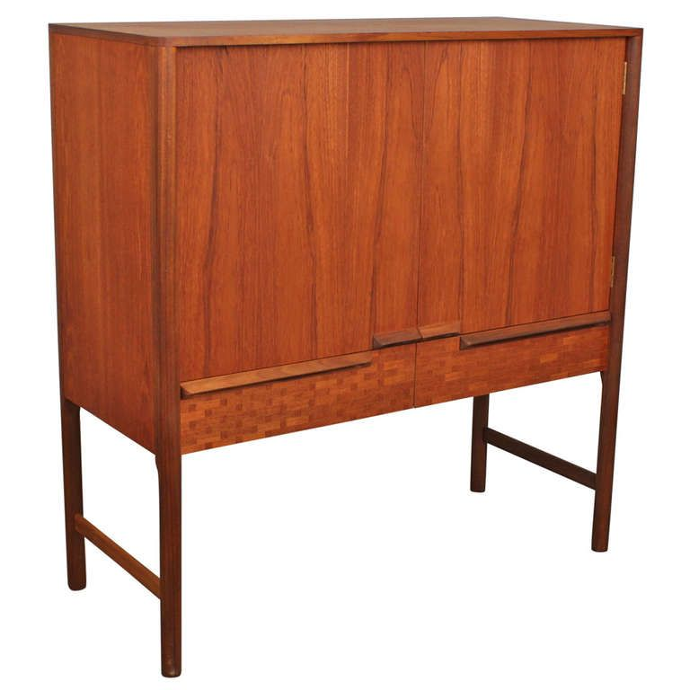 Mid Century McIntosh Teak Bar.