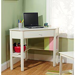 Antique White Wood Corner Computer Desk Kaelyn S Room Pinterest Desks And