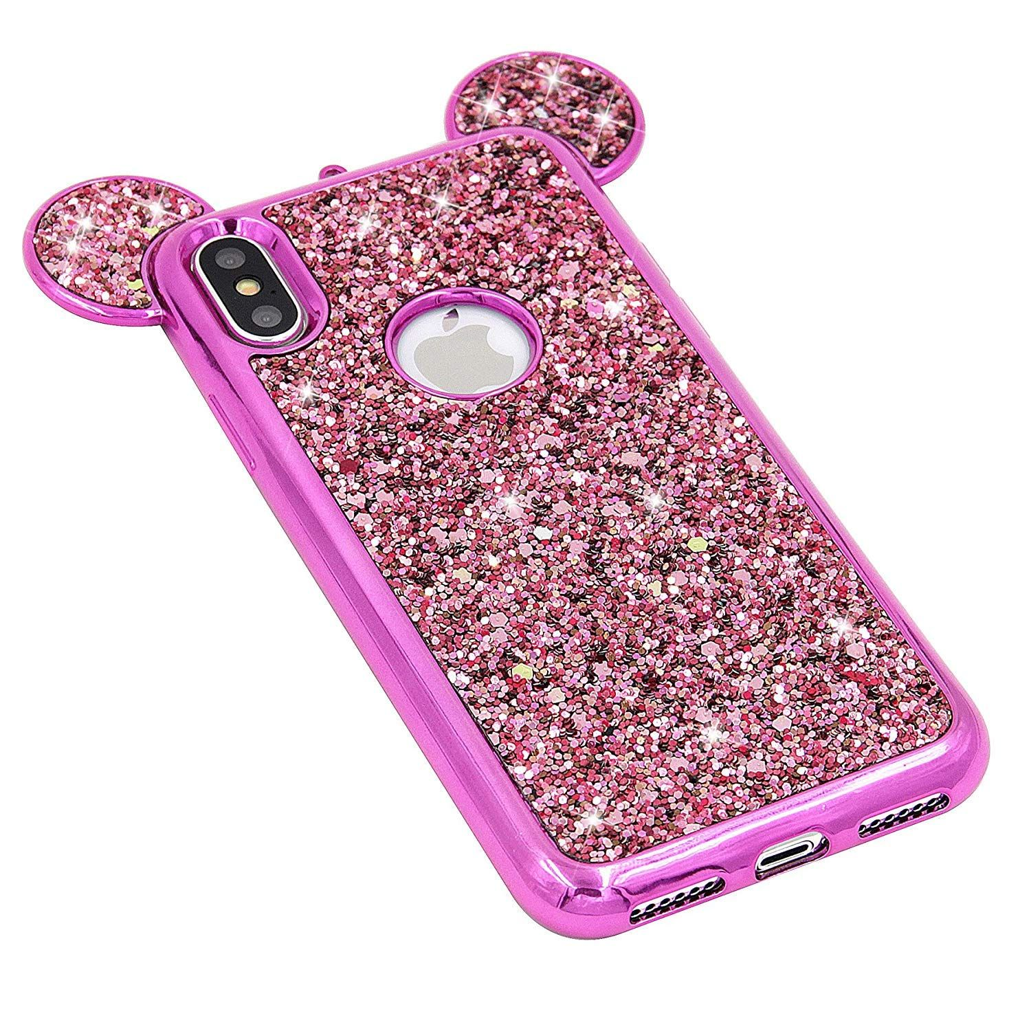 Details about disney glitter bling minnie mouse ears case