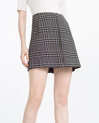 Excelente calidad 2019 original venta al por mayor Imagen 2 de FALDA CUADROS de Zara | faldas | Faldas, Falda a ...