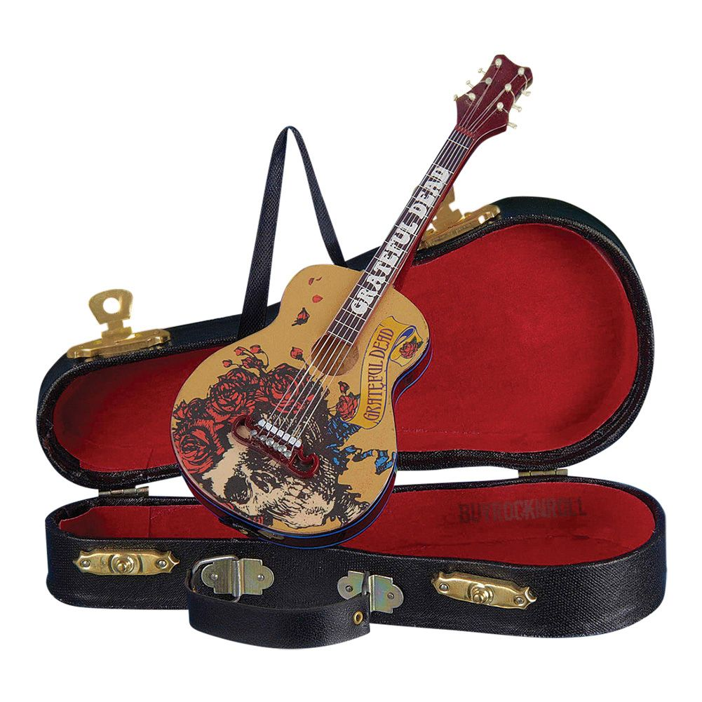 """You don't have to be a Dead Head to appreciate this from BuyRockNRoll... A Grateful Dead Collectible: 2015 Kurt Adler 5.5"""" Guitar Ornament with Guitar Case"""