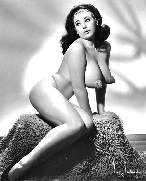 Busty retro woman