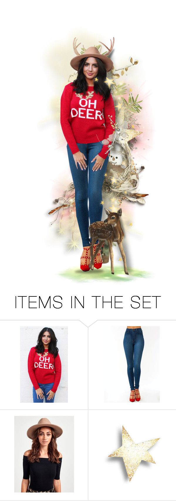 """Oh Deer!"" by vividlyveronica ❤ liked on Polyvore featuring art"
