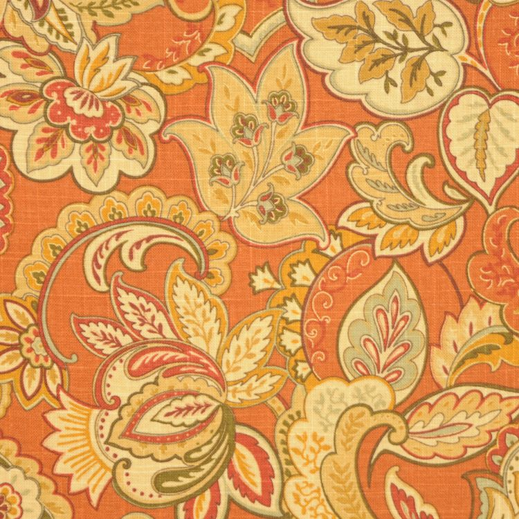 11877 239 Singapore Sienna By Rm Coco Floral Upholstery Fabric