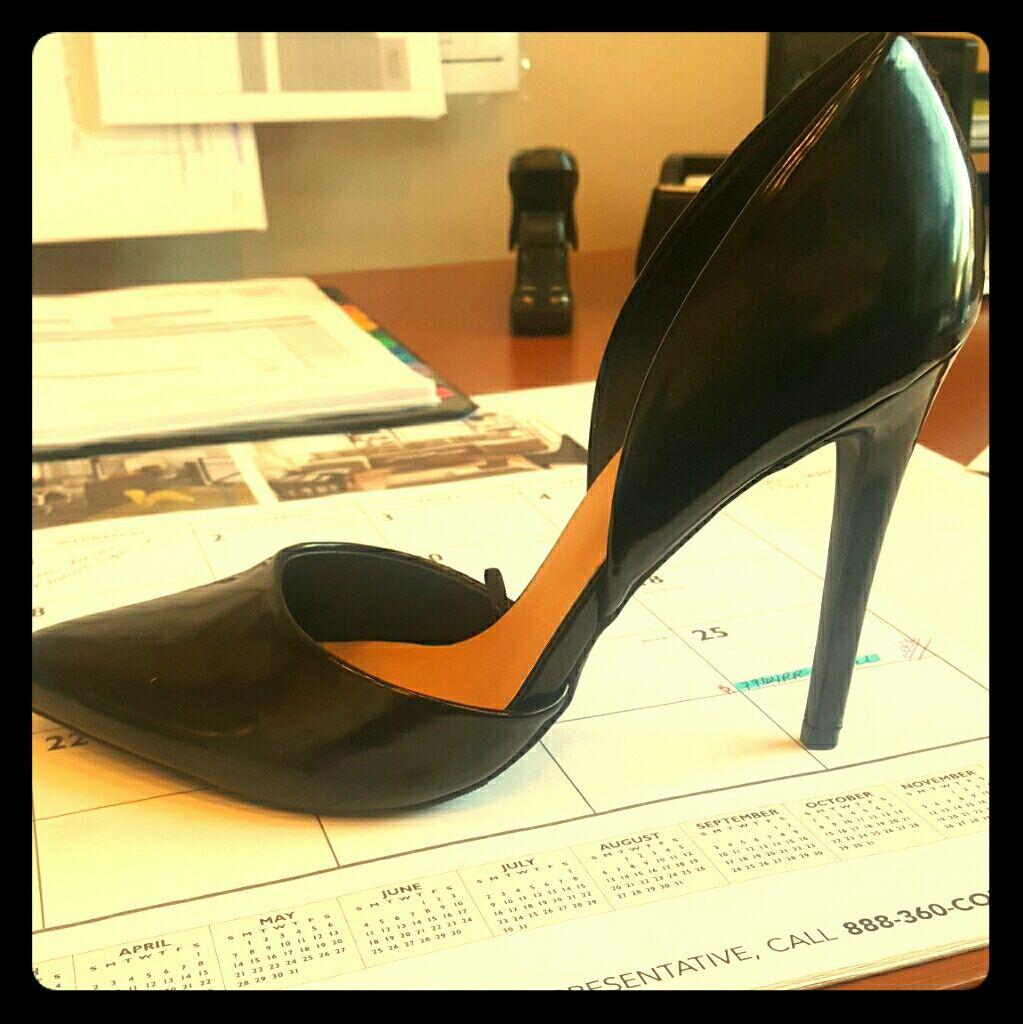 Office Ready Black Stilettos