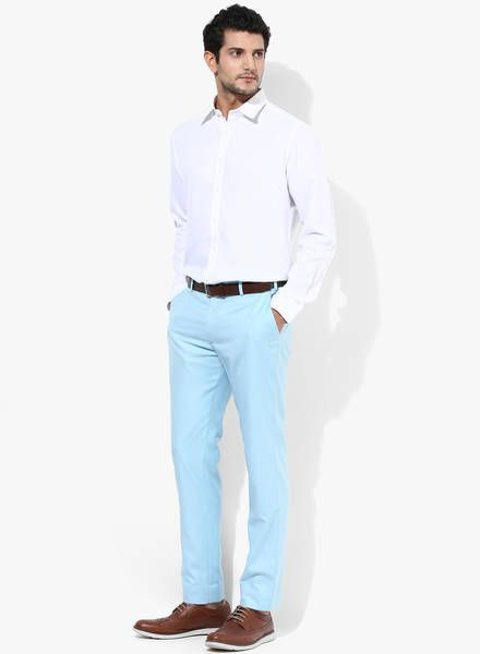 white shirt trouser combination