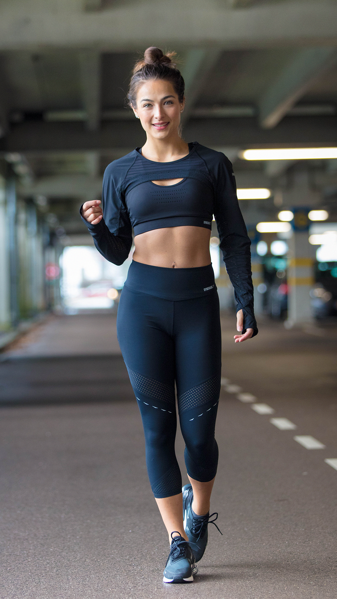 A professional style for your most polished workouts. Style the Pro Perform Shrug, Sports Bra and Le...