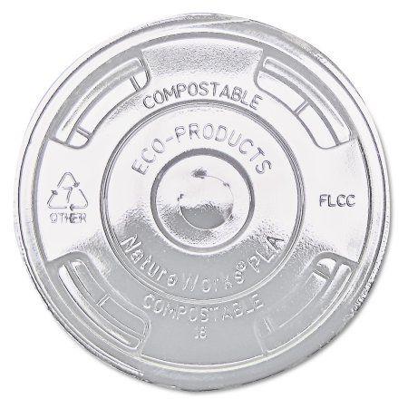 Eco-Products GreenStripe Renewable & Compost Cold Cup Flat Lids, F/9-24oz., 100/PK, 10 PK/CT, Multicolor