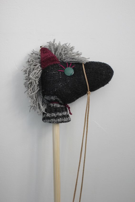stick horse from a sock.