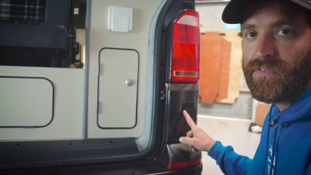 Hidden 240v Hook Up Unit for VW T5/VW T6 Campervan by Base