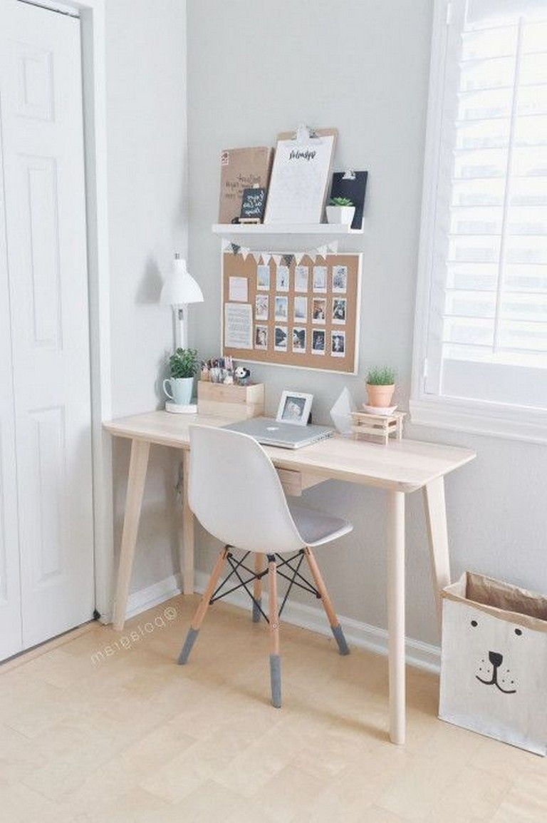 48 Elegant Office Decor Ideas For Small Apartment images