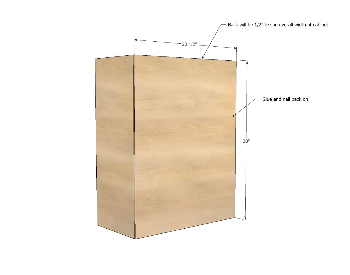 ana white build a wall kitchen cabinet basic carcass plan free rh pinterest com