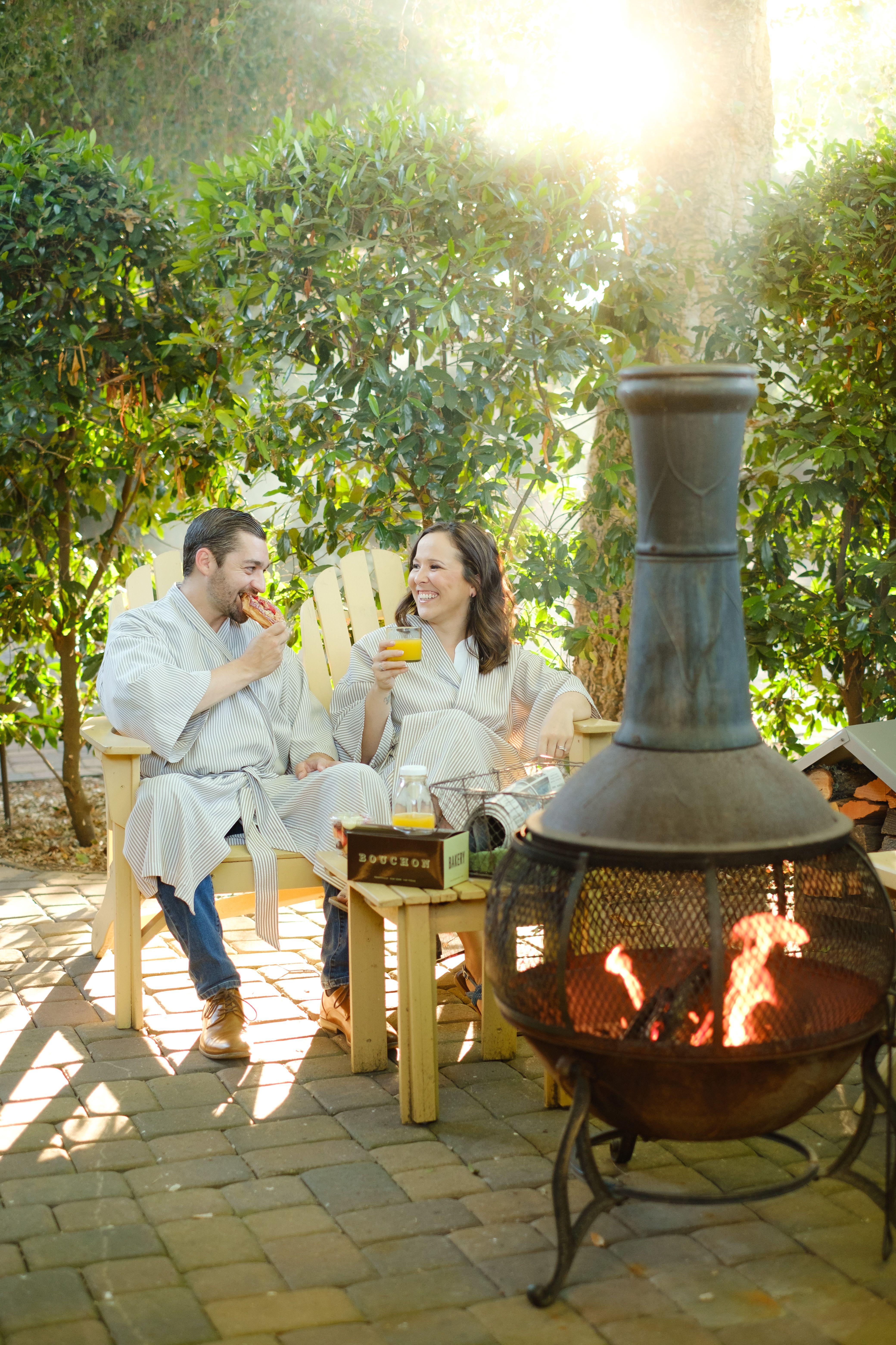 Every Cottage Has A Private Garden With Chimenea Napa Valley Honeymoon Best Weekend Getaways Yountville Restaurants